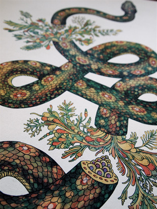 katie-scott:  I have some new limited edition Giclee prints of my Snake illustration. Hand signed and numbered.  Available here
