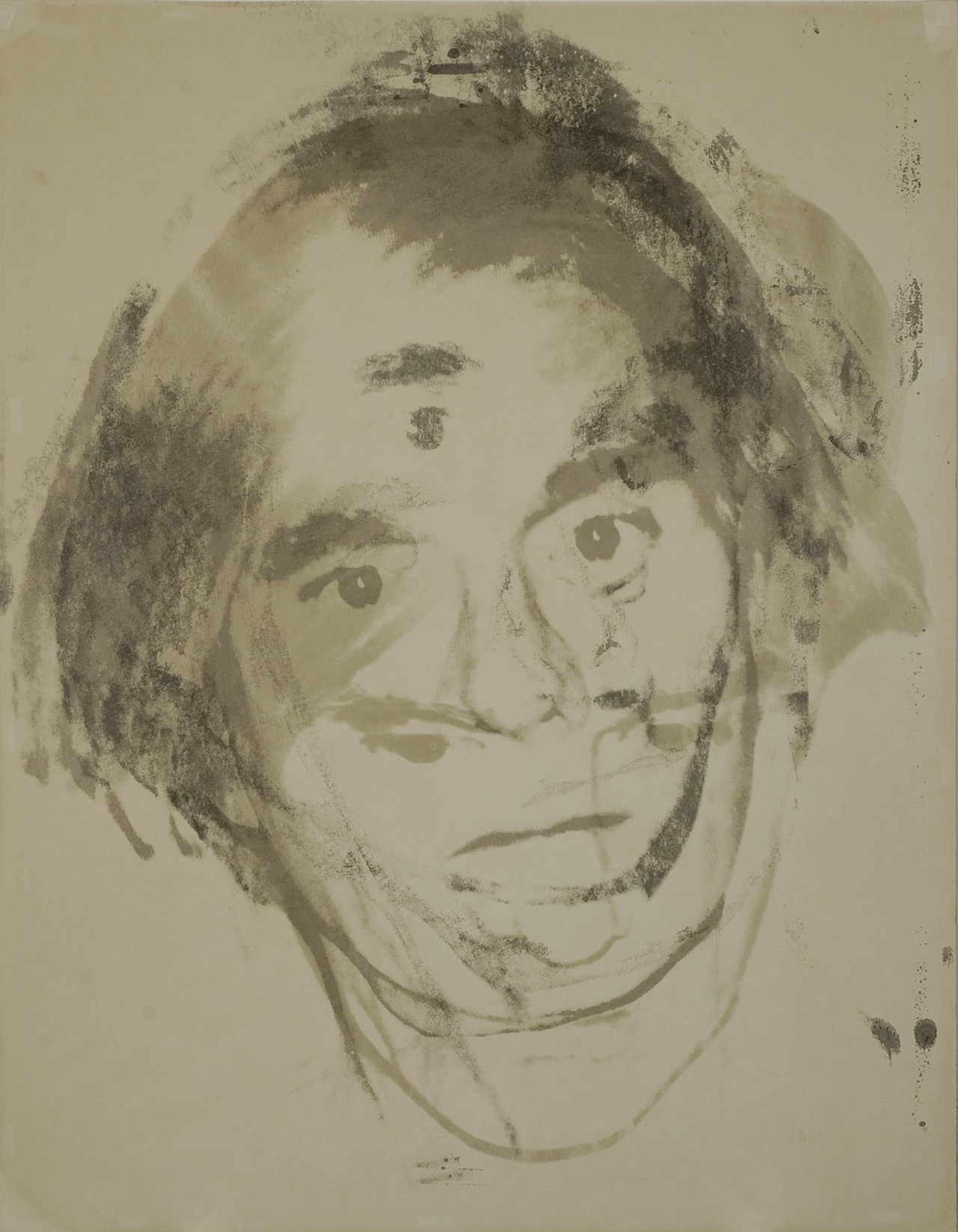 Warhol's Self-portrait Andy Warhol's Self-portrait (c.1977) is a rare and unique screenprint, only available until this Tuesday, at 10:40 a.m. (EST). This iconic work fuses elements of movement and abstraction to capture the king of Pop Art moving in slow motion.