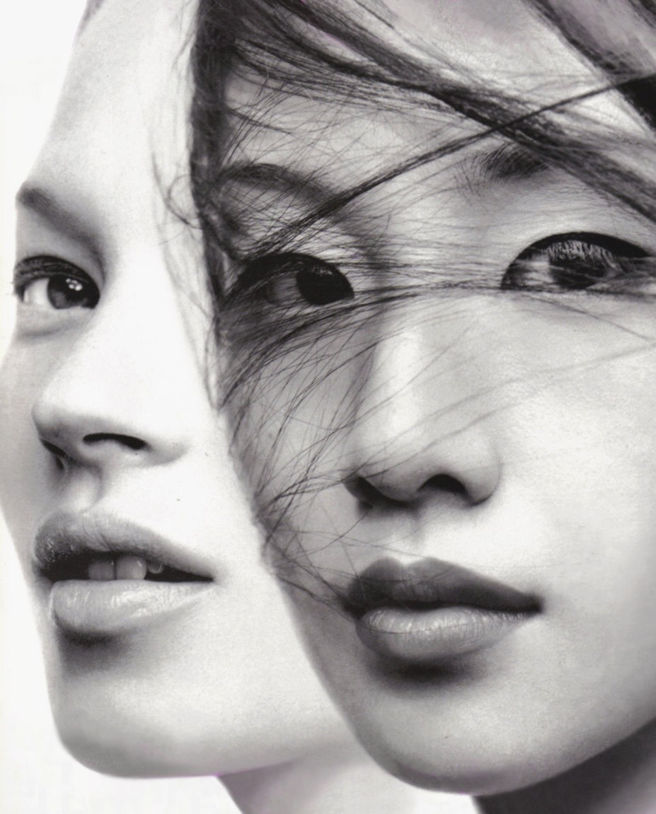 petrole:  kate moss and miki by craig mcdean for vogue japan september 1999