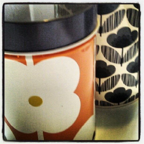 Love my Orla Kiely tins! (Taken with instagram)