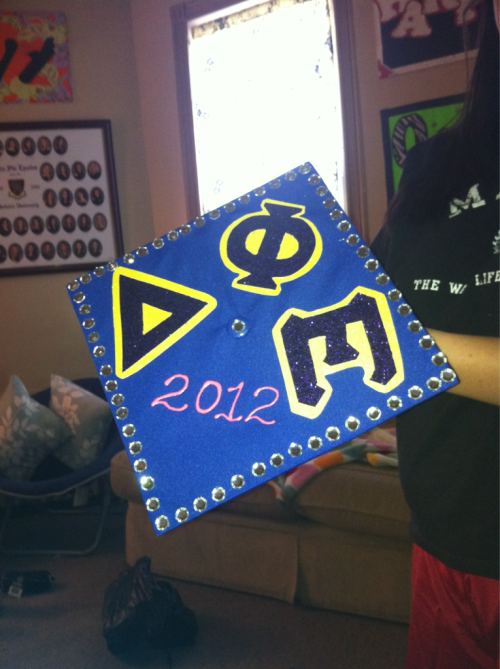 juliepro92:  Grand bigs beautiful graduation cap! Gonna miss her, so sad she's leaving is!