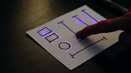 This Gizmo Lets You Draw A UI On Paper, Then Turns It Into A Touch Screen Watch the video->