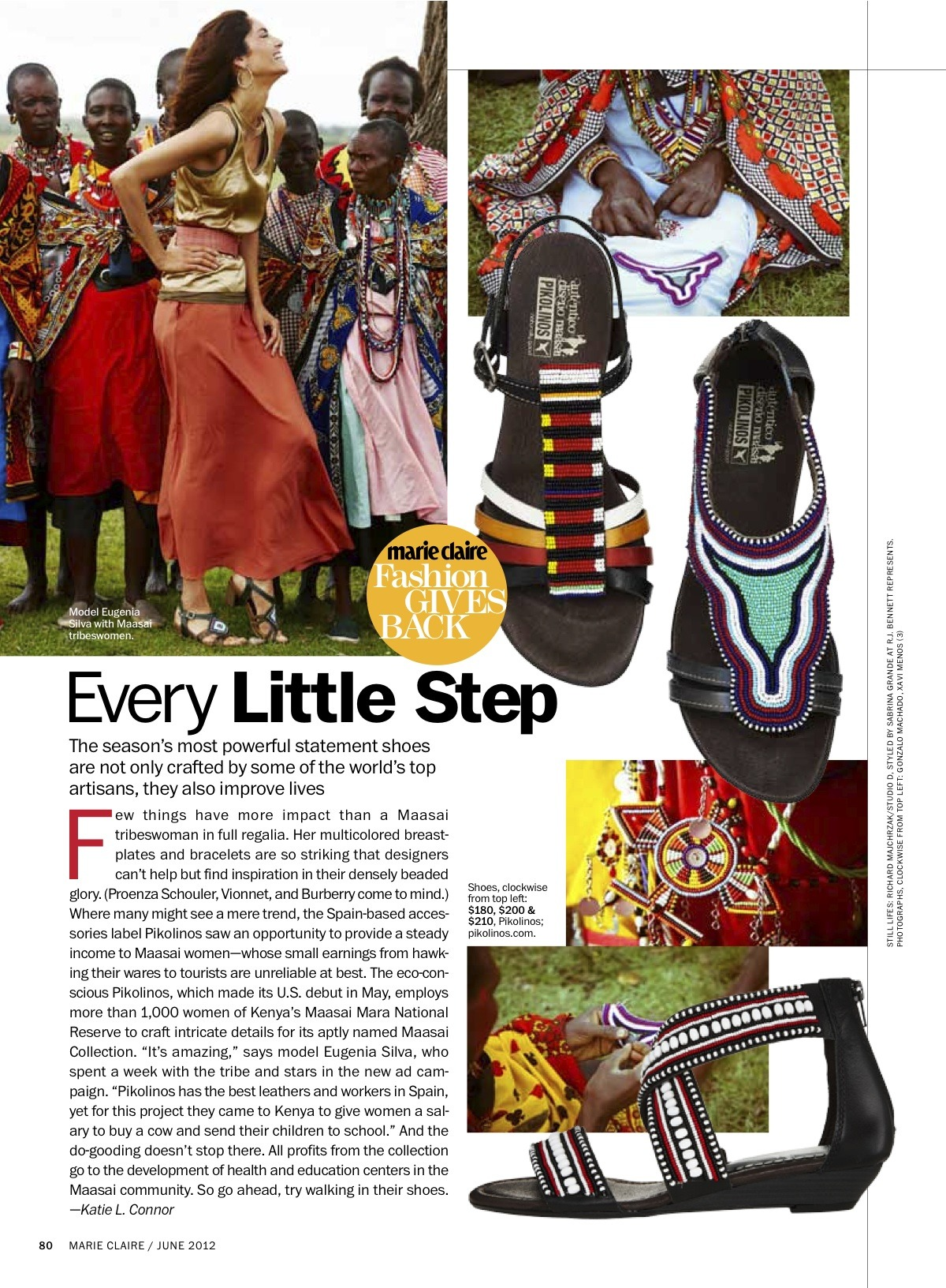 Marie Claire US - @pikolinos_shoes with Eugenia Silva in Kenya