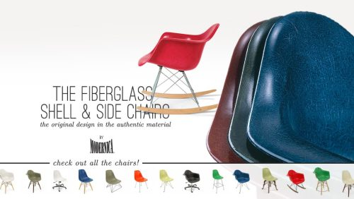 Modernica fiberglass chairs are back!! All colours and bases, quick lead times. Handmade in Los Angeles with the original materials on the original presses.