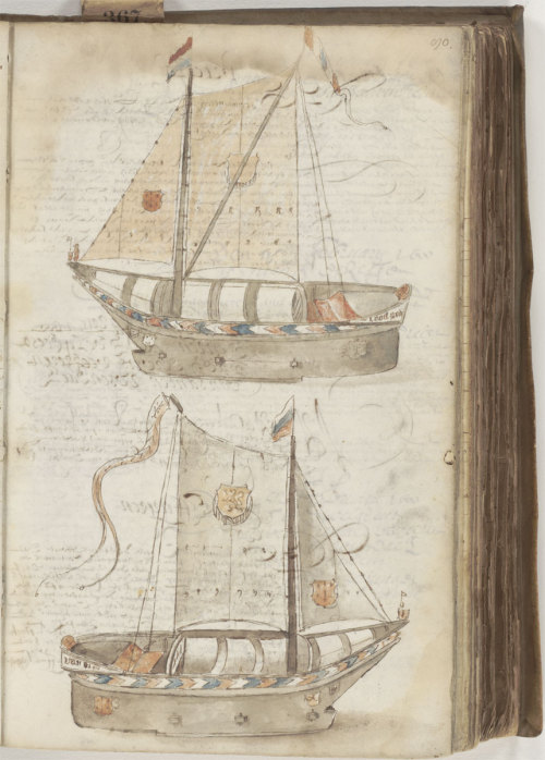 IJszeilboot/Ice sailboat, A. Terrier, January 17, 1600  In the 17th century, it was so cold that meteorologists spoke of a Little Ice Age. The ice sailboat addressed the challenge of transporting goods over frozen lakes and rivers.