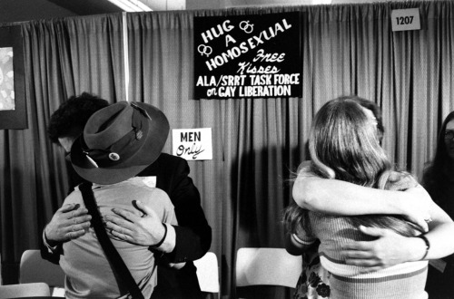"life:  Not published in LIFE. Gay rights event, 1971. In late 1971, two years after the Stonewall riots in New York sparked the modern gay rights movement in America, and twelve months before LIFE ceased publishing as a weekly, the magazine featured an article on ""gay liberation"" that, seen a full 40 years later, feels sensational, measured and somehow endearingly, deeply square all at the same time. Read more here."