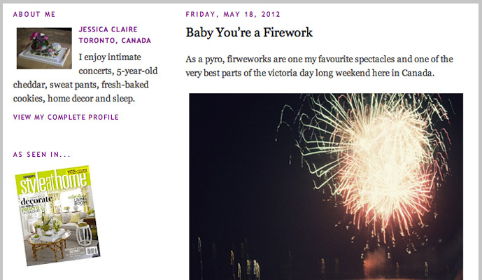 Baby You're a Firework: Jessica Claire, Design Editor of Style at Home blogs about my Fireworks collection. Have a #trill long weekend Canada.