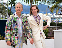 "robin-pucking-goodfellow:  louobedlam:  Bill Murray & Wes Anderson (at Cannes) by Andrew H. Walker(Getty Images) What we have here are two different, excellent uses of fame.  Wes: I have achieved success and acclaim! I can wear expensive suits!  Bill: I have achieved success and acclaim.  I CAN WEAR WHATEVER I WANT. I CAN HOLD HANDS WITH MY DIRECTOR. I CAN SHOW AFFECTION AND/OR SCORN AS I SEE FIT.  I AM BEYOND THAT WHICH CONCERNS THE REST OF YOU, THAT WHICH PLAGUES YOUR DREAMS AND CONSUMES YOUR EVERY WAKING HOUR.  TIME IS BUT A WINDOW. DEATH IS BUT A DOOR.  BILL MURRAY IS.  Holy shit hshahahahah  Reblogging this again because every time I look at it I smile really huge, and because now that I've sobered up a little bit I can better articulate what I like about this. Which is that Wes just looks dapper/sassy/pretty as FUCK and Bill Murray looks like a weirdly possessive father ALSO, they are both Aging Hipster alum; I have half a mind to reblog this to FYAH with the caption ""first couple of aging hipsterdom"" but I've already made a post on there with a questionable caption today EDIT: That ^ was supposed to go to my personal account. But while we're here, the sentiment still holds"