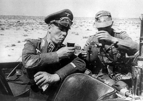 conflictpictures:  Erwin Rommel, commander of the 'Afrika Korps' Second World War