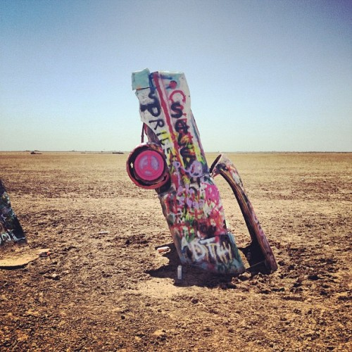 nickgerber:  Not sure I understand (Taken with Instagram at Cadillac Ranch)