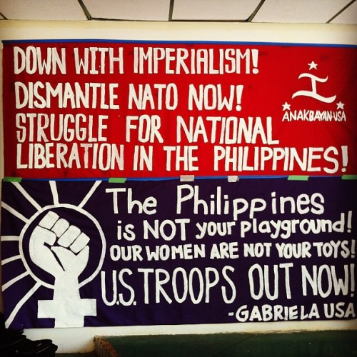 kulturalguerilla:  Sulong Anakbayan! Sulong Gabriela! (Taken with instagram)