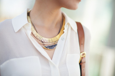 what-do-i-wear:   necklace,  Wanderlust + Co, Gorjana &  Mickey Lynn (image: wendyslookbook)