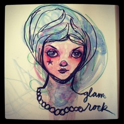 glam rock by tessa mcsorley of how to make art