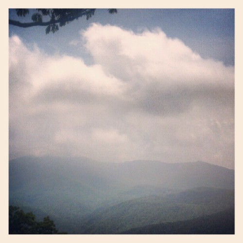 nobodysdiary:  Clouds over Grandfather Mountain (Taken with instagram)