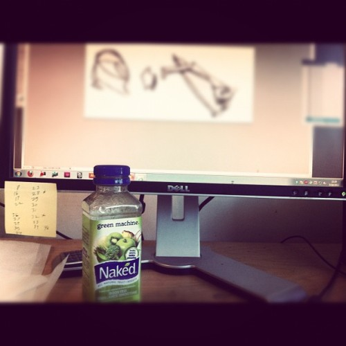 Daily Routine. computer work and naked juice. #internship #work #santamonica #morning #nakedjuice #greenmachine #healthy #diet  (Taken with instagram)