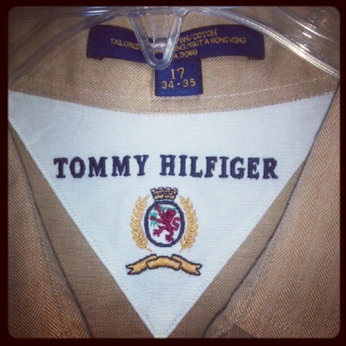 What y'all know about that crest?!?!? #TommyHilfiger #OKK (Taken with instagram)