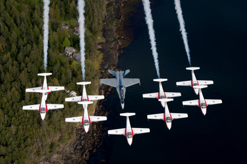 Canadian Forces Snow Birds and CF 18 Demo