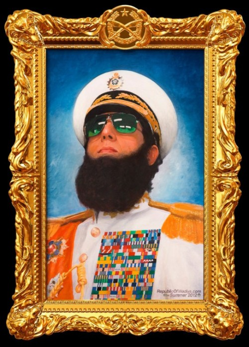 The Dictator - How I'm spending my Saturday night.