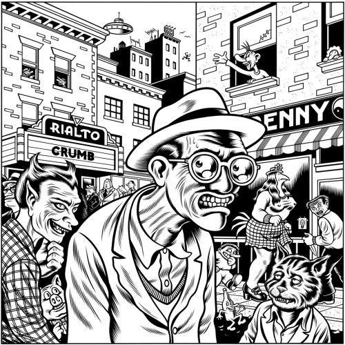 originalgiantcontent:  The world of Robert Crumb as illustrated by Charles Burns, both of whom are huge influences on my own work.