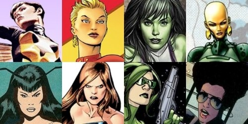 Marvel Girls On Film: Are These Your Female Avengers?  By Andrew Wheeler with graphics by Dylan Todd With the massive box office success of The Avengers (the film has earned more than one billion dollars at box offices worldwide), Marvel Studios has accomplished an extraordinary feat in franchise building; it has created a shared cinematic superhero universe based on the characters originally created by Jack Kirby and Stan Lee. Introducing its heroes across five movies was ambitious enough (Iron Man, Incredible Hulk, Iron Man 2, Thor andCaptain America), but betting that all of those characters could fit together in The Avengers was a huge gamble for Marvel, and it's remarkable that it paid off as well as it did.Yet something got lost in the shuffle of all those movies. Marvel Studios did a pretty good job of putting intelligent, capable female characters in its pictures: Pepper Potts, the level-headed executive; Betty Ross and Jane Foster, the brilliant scientists; Natasha Romanoff, the kick-ass S.H.I.E.L.D. agent; Sif, the Asgardian swordswoman; and my favorite, Peggy Carter, the quick-witted British intelligence officer. Potts and Romanoff returned forThe Avengers, with the latter getting a sizable chunk of screen time, and S.H.I.E.L.D. deputy Maria Hill was added to the mix, but still some fans were disappointed not to see a second female Avenger on the team.The future of the shared universe seems assured given The Avengers movie's record-breaking take, so there's ample opportunity to add some women to the franchise. But with almost 50 years of continuity to draw from, which characters will they choose?Read on for our selections for Marvel's new female Avengers.