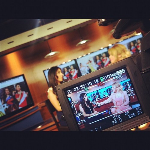 TV time w @telemudo48 @covergirl #fashion #TV  (Taken with instagram)