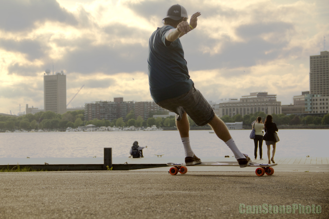 cstone90:  Skate Day with my best homey Mike Girard along the Charles River in good ole #Boston. Hadn't seen him in a while, he's finally done with school, stoked he's working for G-Form!  Check on the new Dervish Sama on Otang Baluts in #Boston. Dope shot, Cam!