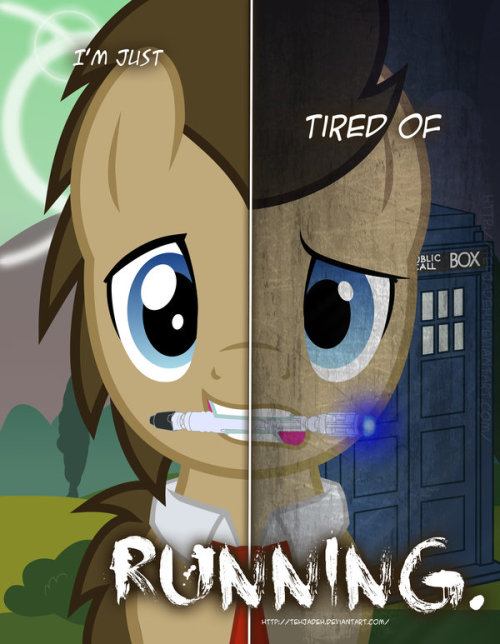 Doctor Whooves (My Little Pony) This was from an amazing Two sides project made by http://tehjadeh.deviantart.com/ Check the whole picture gallery! http://tehjadeh.deviantart.com/gallery/34012529