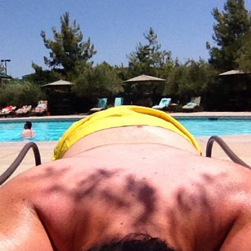Gettin my tan on (Taken with Instagram at Barona Swimming Pool)