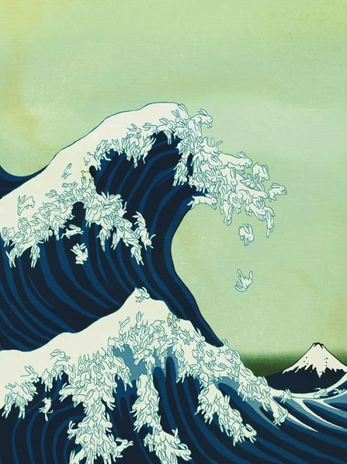 Hokusai + Kozyndan = Uprisings (Great Wave off Kanagawa)