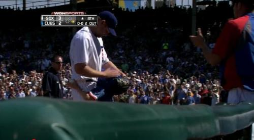 And that's it. Kerry Wood gets one more strike out, and is hugged by his son leaving the field. Super sentimental over here.