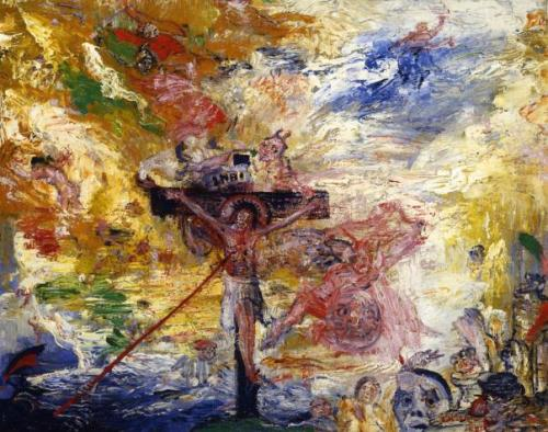 James Ensor, Le Christ tourmenté (Christ Tormented), 1888. Kemper Art Gallery