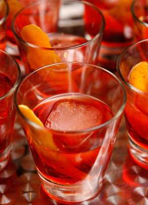 Getting to be about that time of year where the Negroni becomes one of my top three drinks. Mix one up for some Spring/Summer refreshment: 1 part Campari 1 part sweet vermouth 1 part Bluecoat Gin Orange peel for garnish Mix and pour over ice.