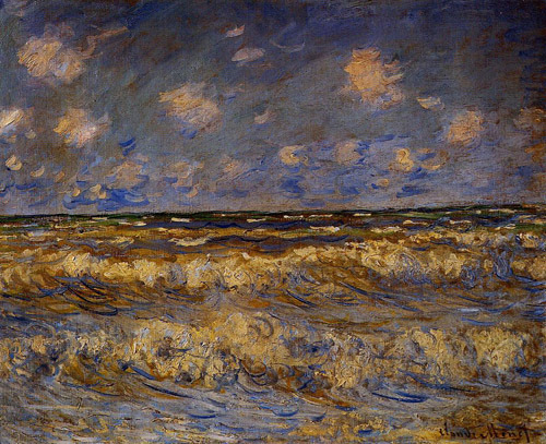 poboh:  Rough Sea, 1881, Claude Monet.