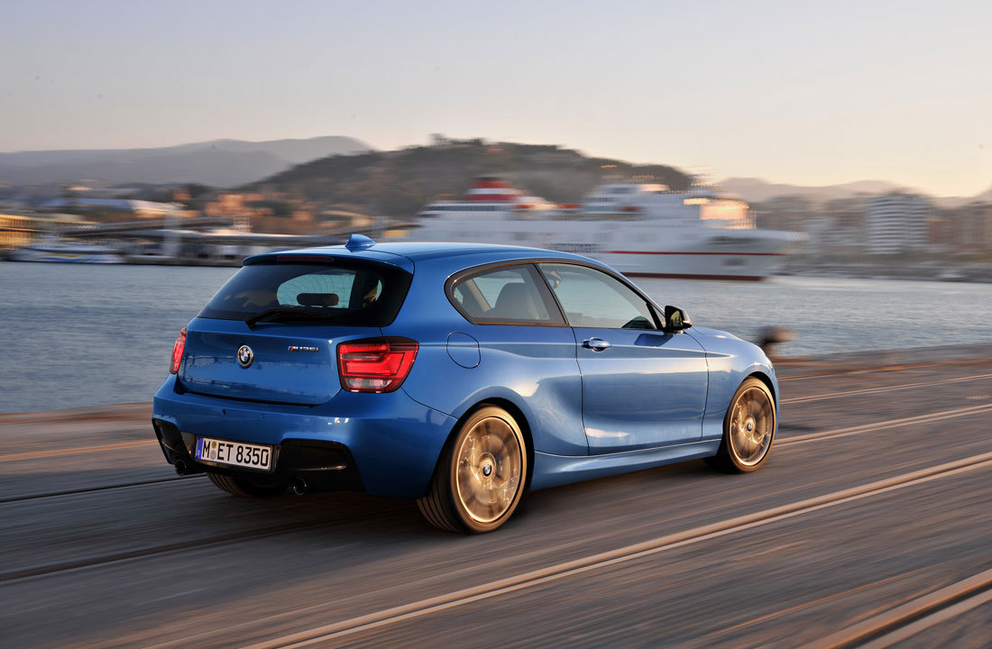 """BMW M 135i : 2012"" The sporty and elegant design of the new three-door BMW M 135i are distinguishing features that sharpen the unmistakable profile of the BMW 1 Series as the recognised standard of sheer driving pleasure in the premium compact car segment. ____________________ Small, blu3 car p0rn with a little bit of class and a lot of 320 horsepower! ^_^ AND it's a hatchback! #Mmm"
