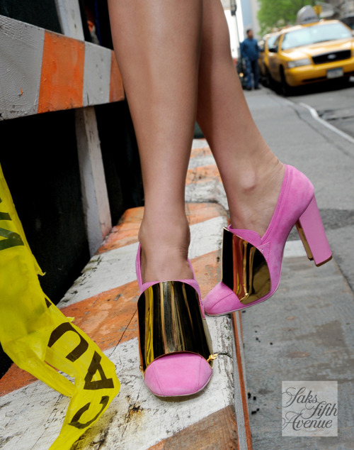 10022-shoe:  Proceed with caution in armored Yves Saint Laurent heels!