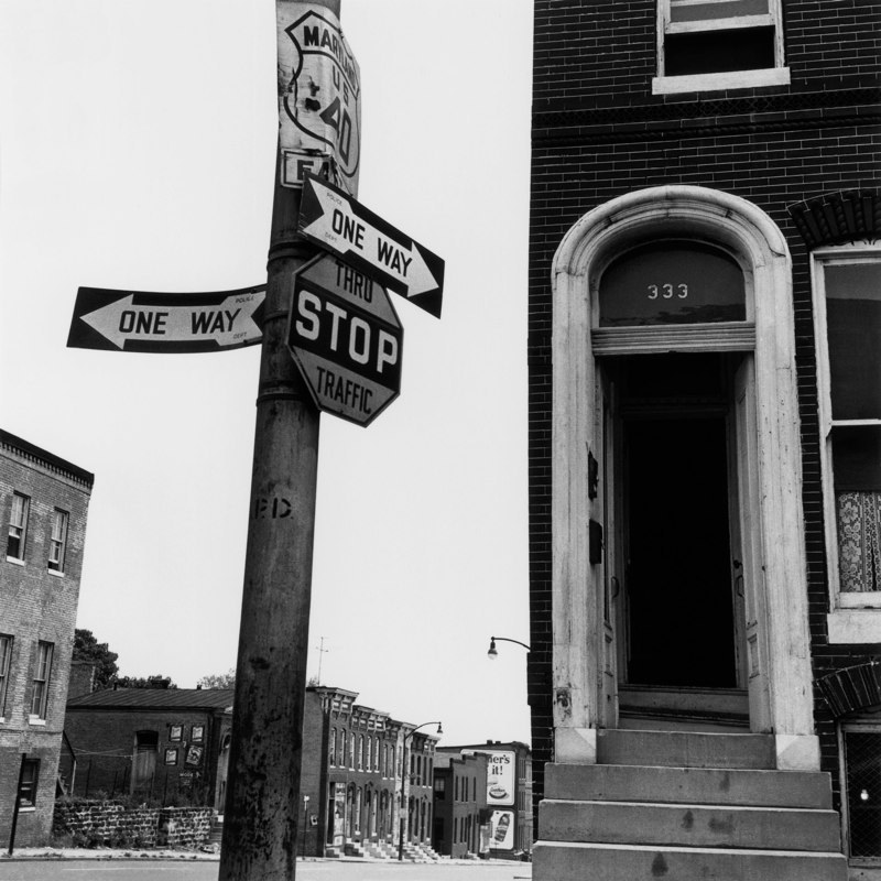 Berenice Abbott: Doorway, Baltimore, Maryland, 1954