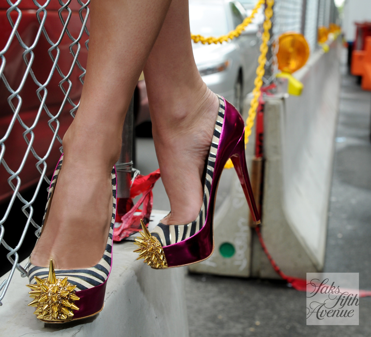 Christian Louboutin knows how to live on the edge with these spiked toes!