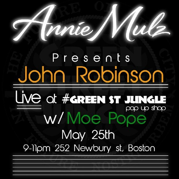 @whoisjr and @moepope77 LIVE May 25th #GreenStreetJungle 252 Newbury Street #JoinThePride (Taken with instagram)