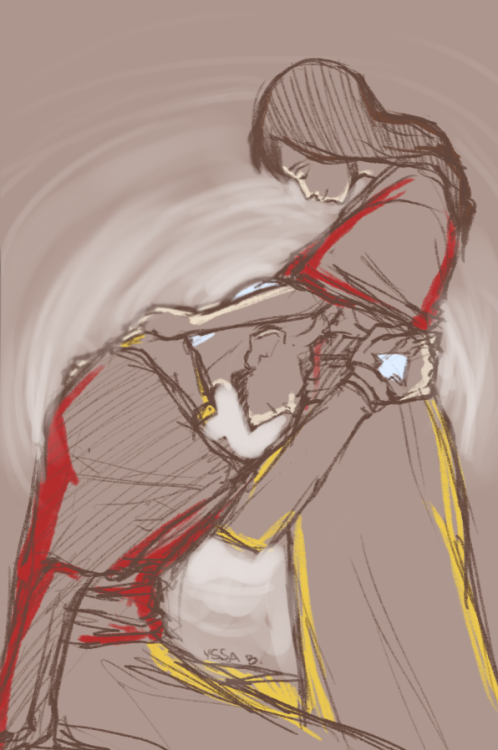 "korralations:   Day 12 | 120 ShipsPema/Tenzin (Legend of Korra) ""Pema remembers the first time she told Tenzin she was pregnant.""  askjdfhdskhfl Pemzin feels."