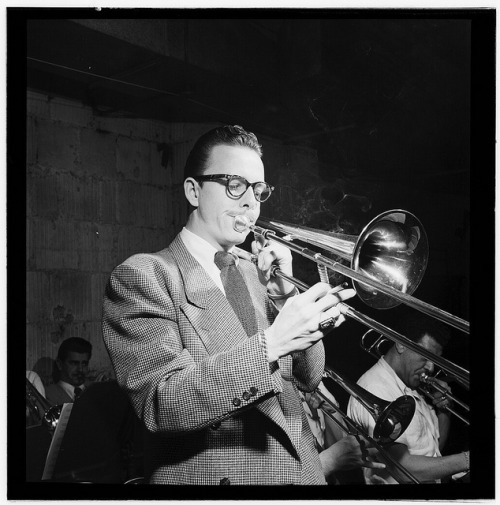 Happy Birthday to Kai Winding, captured here back in 1947 by classic jazz photographer William Gottlieb… see our companion post on Jazz + Design + Art… [Portrait of Kai Winding, New York, N.Y.(?), ca. Jan. 1947] (LOC) by The Library of Congress on Flickr. Dig some Kai Winding below:
