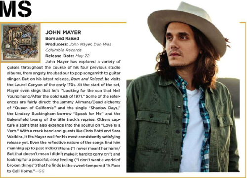 Billboard review, May 2012
