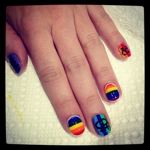 heynicenails:  Long Beach Gay Pride #nailart (Taken with instagram)