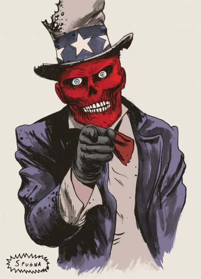 lospaziobianco:   Uncle Red Skull wants you! by Spugna