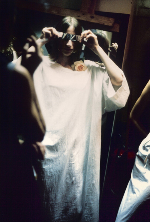 Backstage at Maison Martin Margiela by Marina Faust, 1994