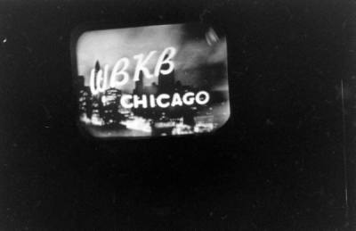 "Television ""screenshot"" from 1947. WBKB was Chicago's one and only television station then, eventually becoming WLS-TV, ABC 7."