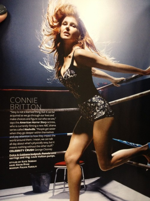 Connie Britton in InStyle Magazine [X] Her celebrity crush?  George Clooney