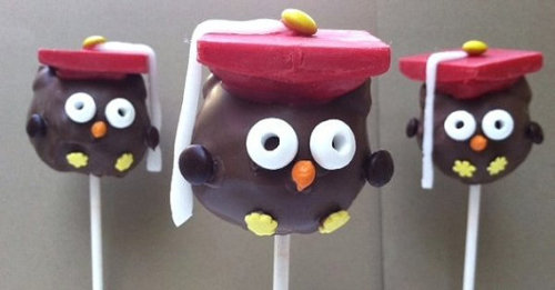 Graduating soon, or know someone who is? Check out these adorable cake pops! They are a super cute way to celebrate that special day and come in several flavors including chocolate, vanilla, red velvet and others. $45/dozen—get them here!