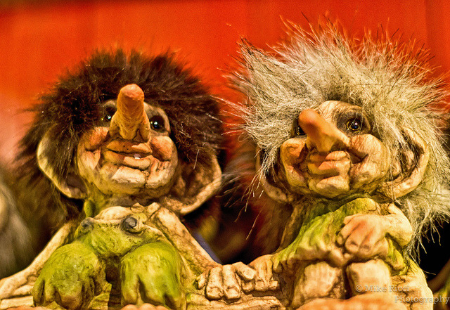 Trolls on Flickr.Just a couple trolls from  norway