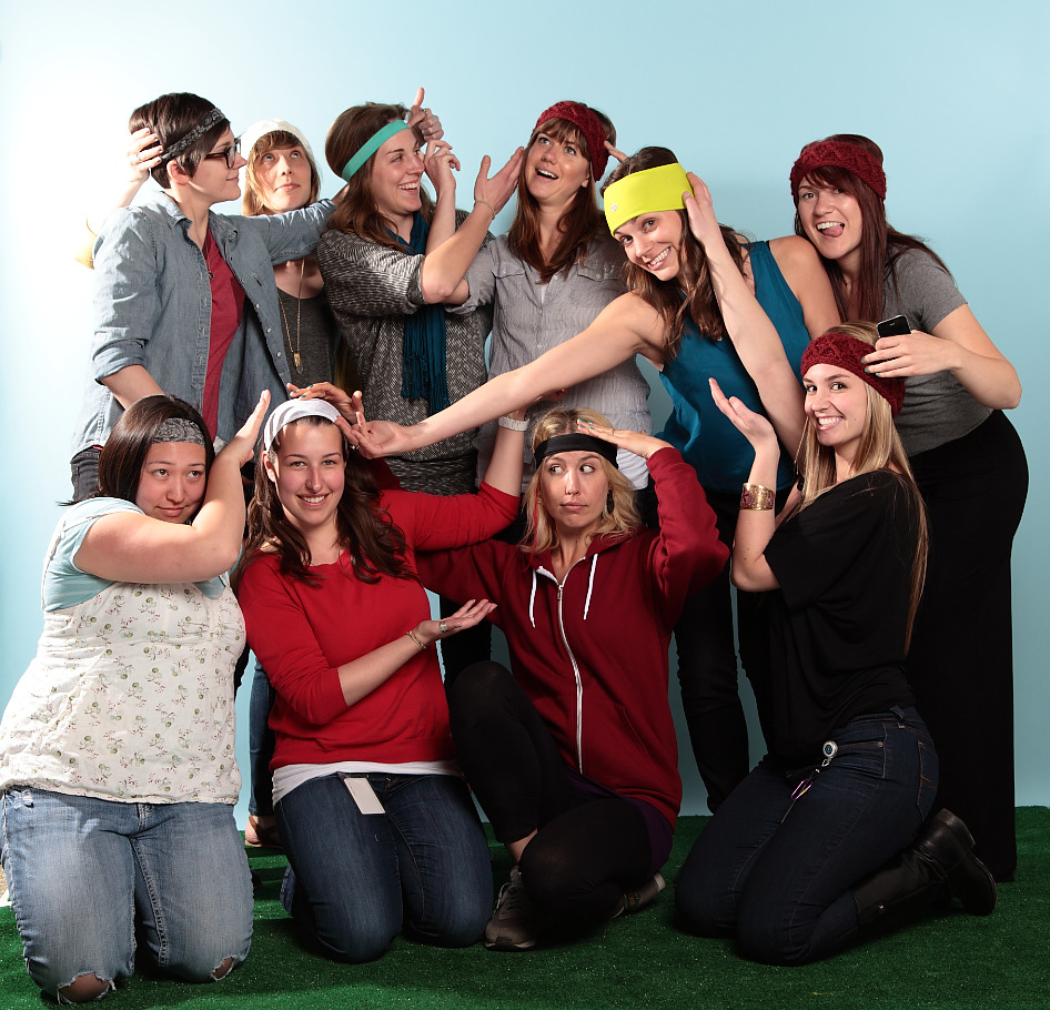 Too cute! The zulily Copywriter team keeps their heads warm and their words fresh and fun!
