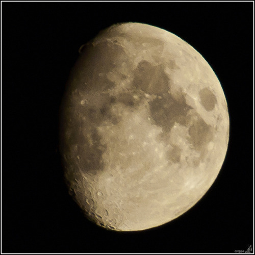 The Moon tonight from Holton Somerset by cstgpa on Flickr.